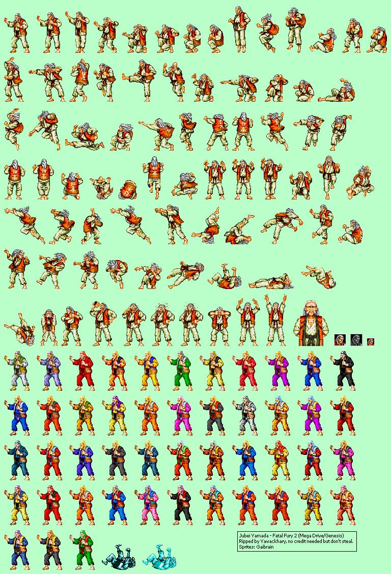 Genesis 32x Scd Fatal Fury 2 Jubei Yamada The