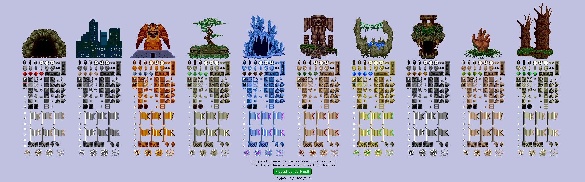 The Spriters Resource Full Sheet View Kid Chameleon Level Titles