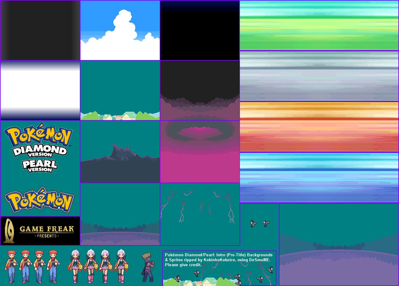 The Spriters Resource Full Sheet View Pok 233 Mon Diamond Pearl Intro Movie