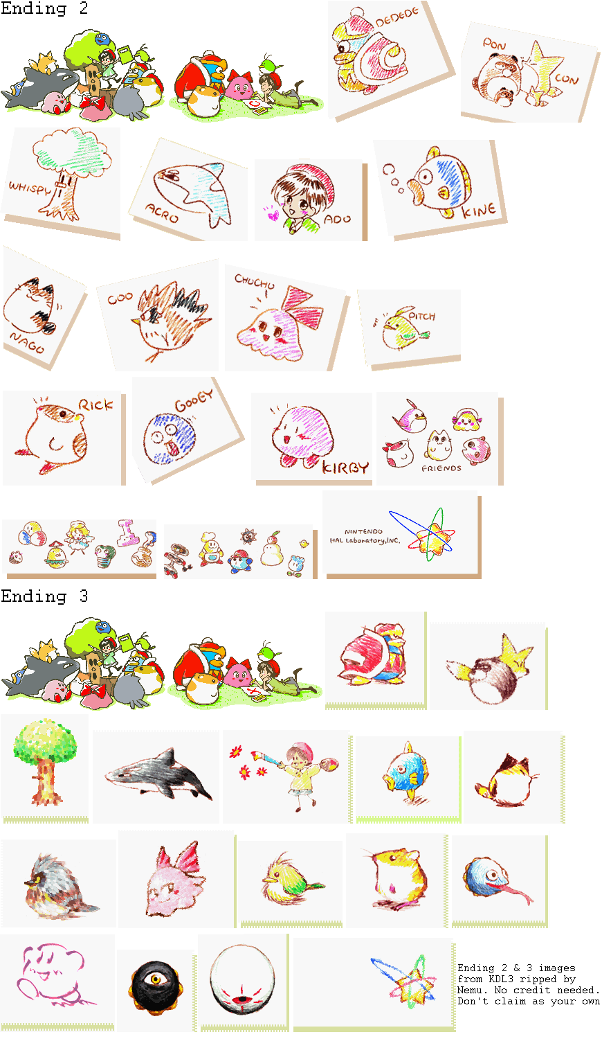 SNES - Kirby's Dream Land 3 - Ending 3 Images - The ...