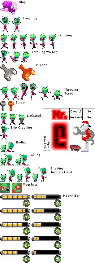 Game Boy Advance - Nicktoons: Freeze Frame Frenzy - Zim (Boss) - The ...