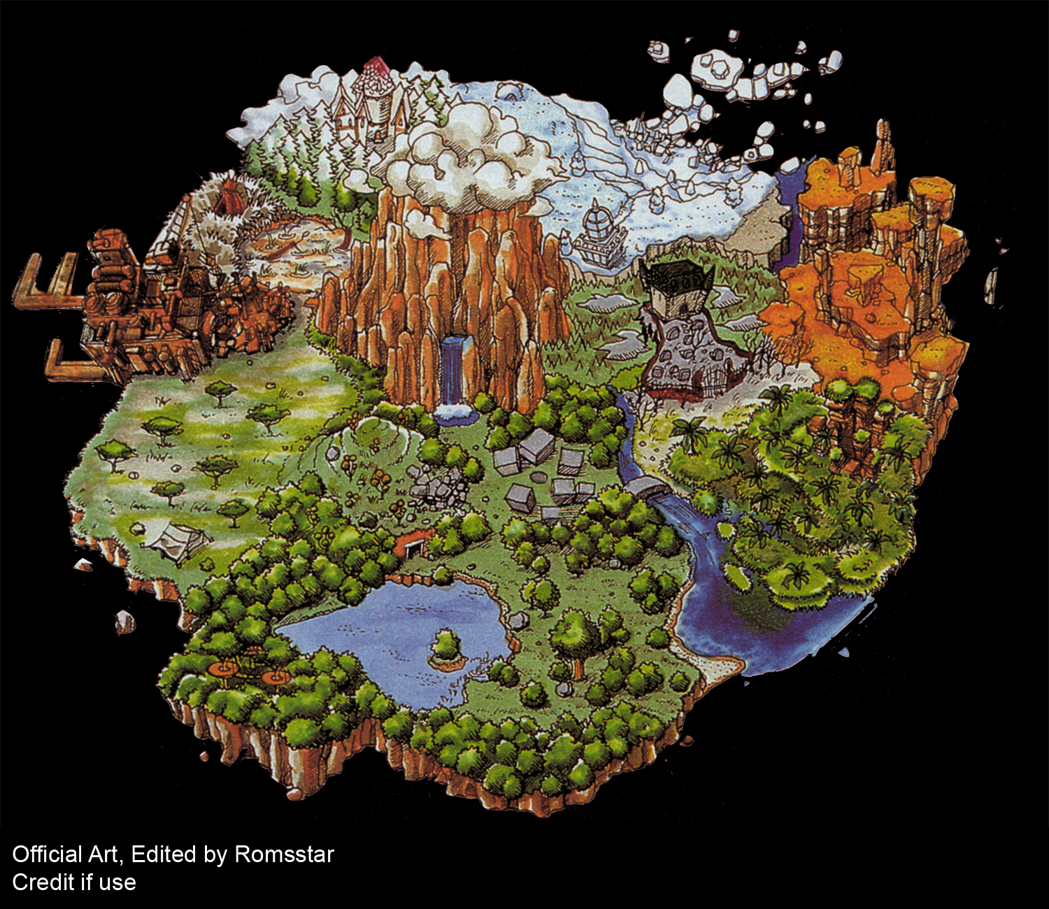 Playstation digimon world world map custom the spriters resource click for full sized image world map custom gumiabroncs Image collections