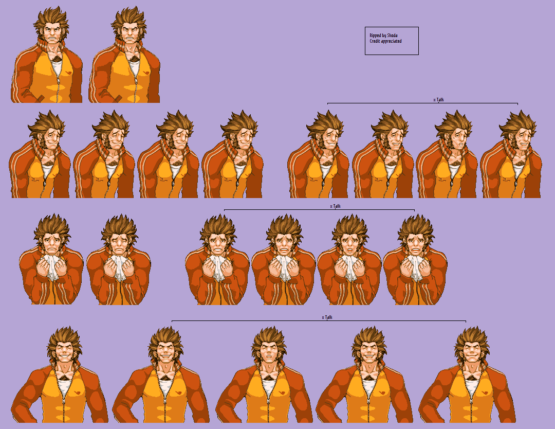 The Spriters Resource Full Sheet View Phoenix Wright Ace Attorney Will Powers