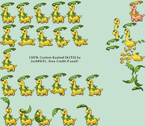 custom edited pokémon customs 153 bayleef the spriters resource