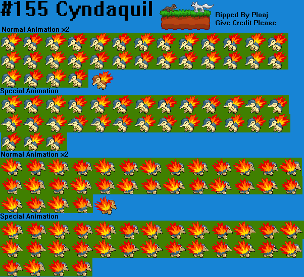 Cyndaquil Pokemon Sprites Images | Pokemon Images