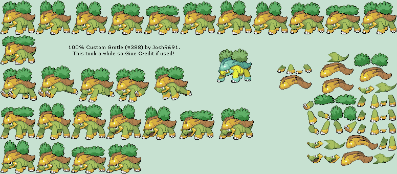 The Spriters Resource Full Sheet View Pokémon Customs 388 Grotle