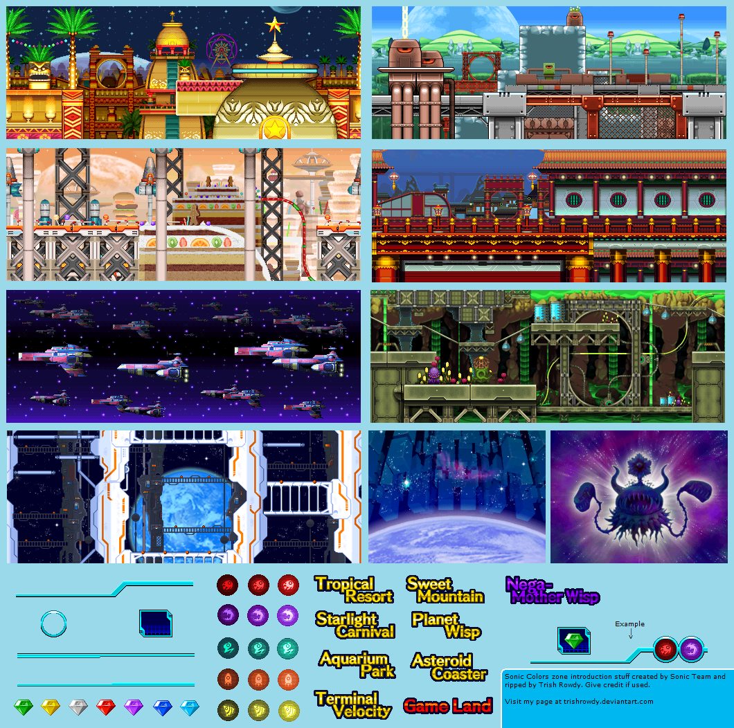 Ds Dsi Sonic Colors Zone Introduction The Spriters