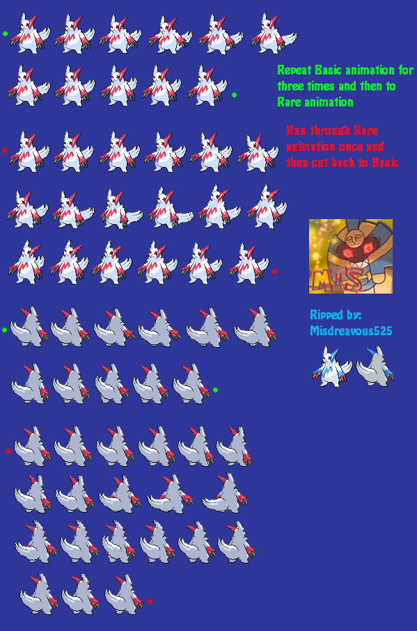 DS - Pokémon Black / White - #335 Zangoose - The Spriters ...