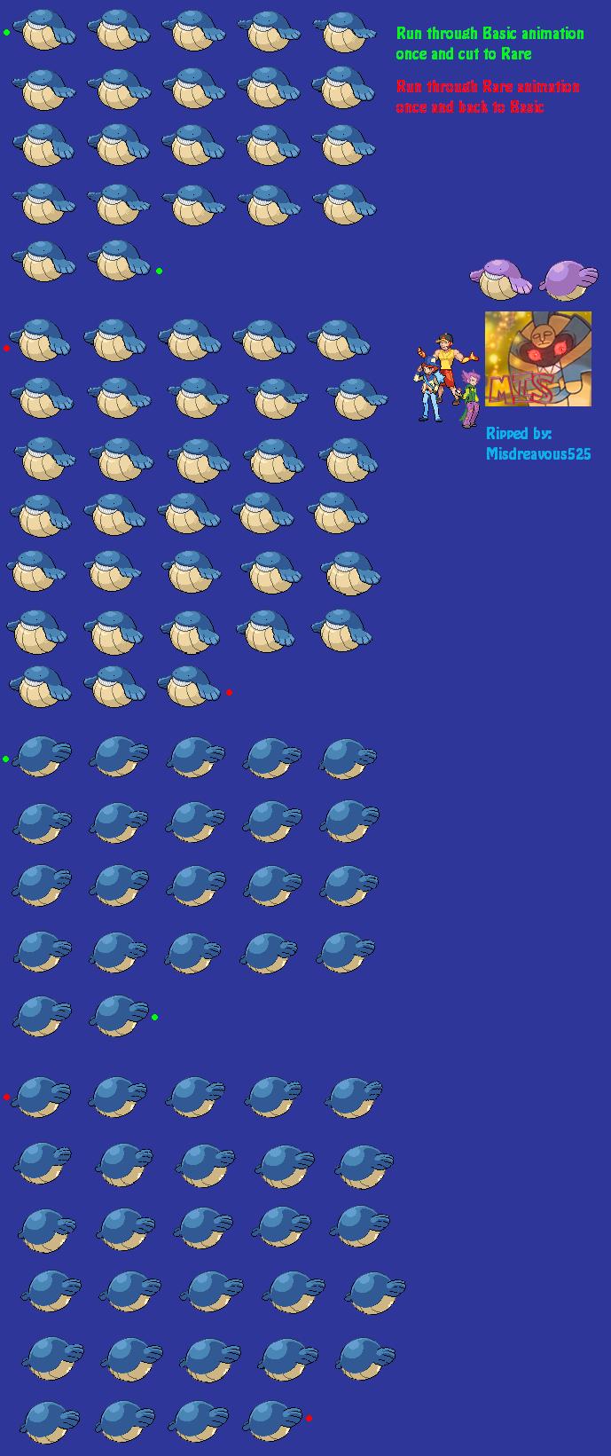 The Spriters Resource - Full Sheet View - Pokémon Black ... Wailmer Sprite