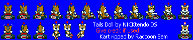 Sonic the Hedgehog Customs - Tails Doll (Super Mario Kart-Style)