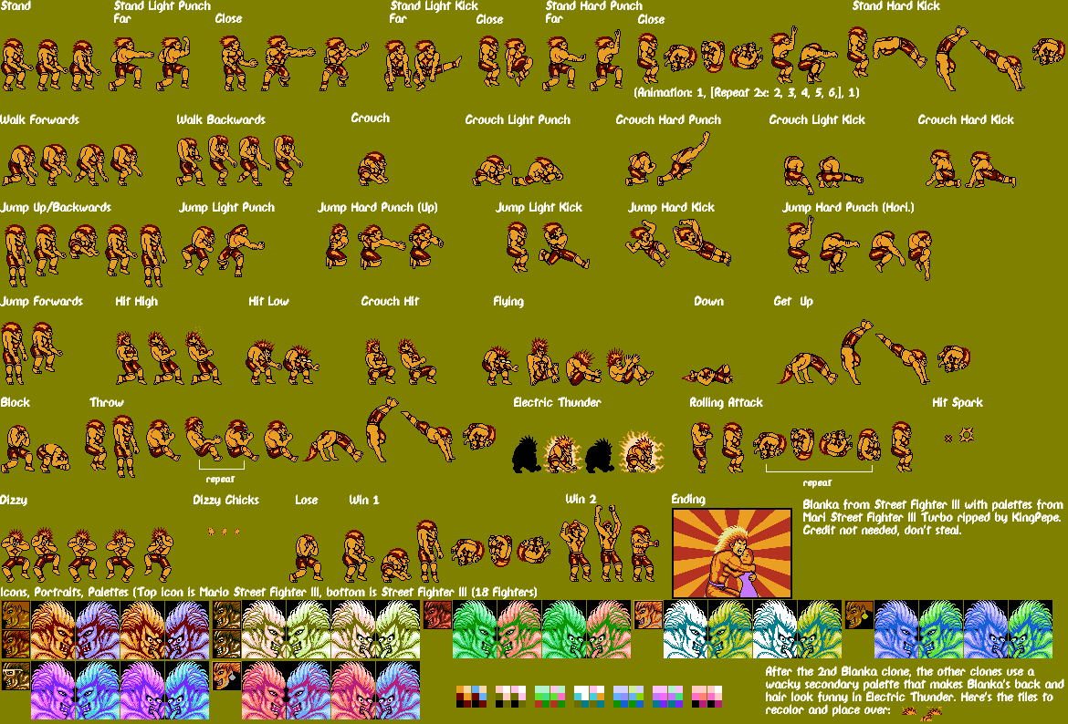 The Spriters Resource Full Sheet View Street Fighter 3