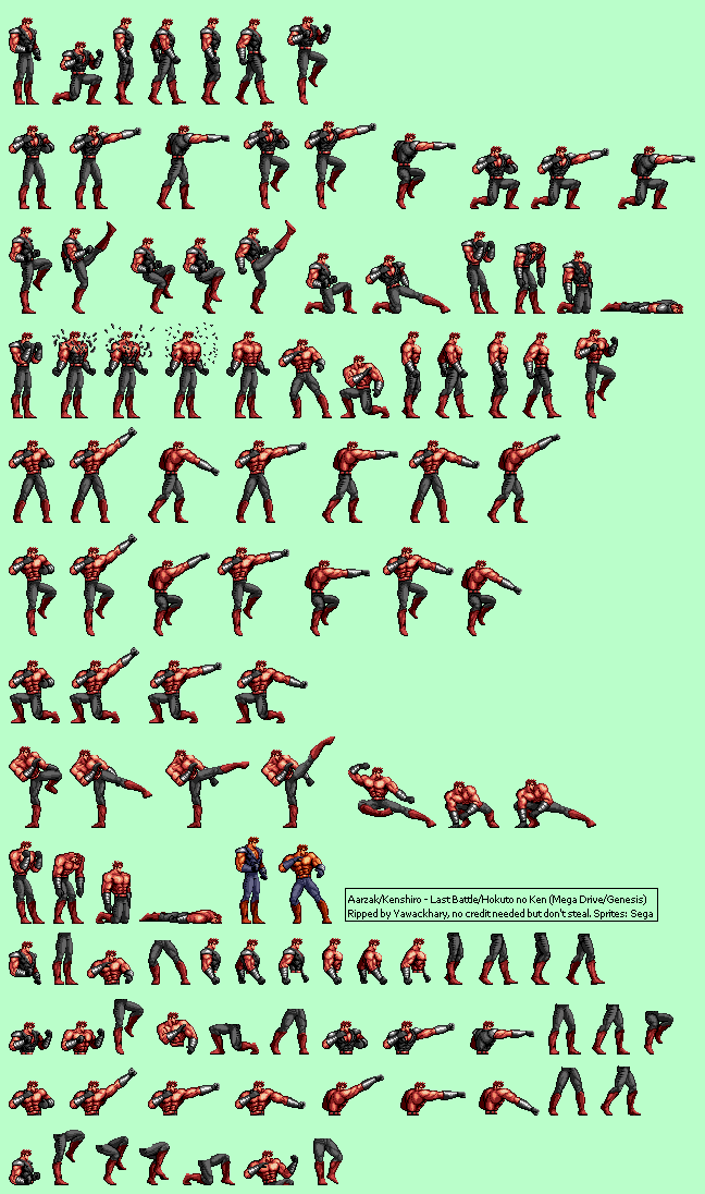 The Spriters Resource Full Sheet View Last Battle Hokuto No Ken Aarzak Kenshiro