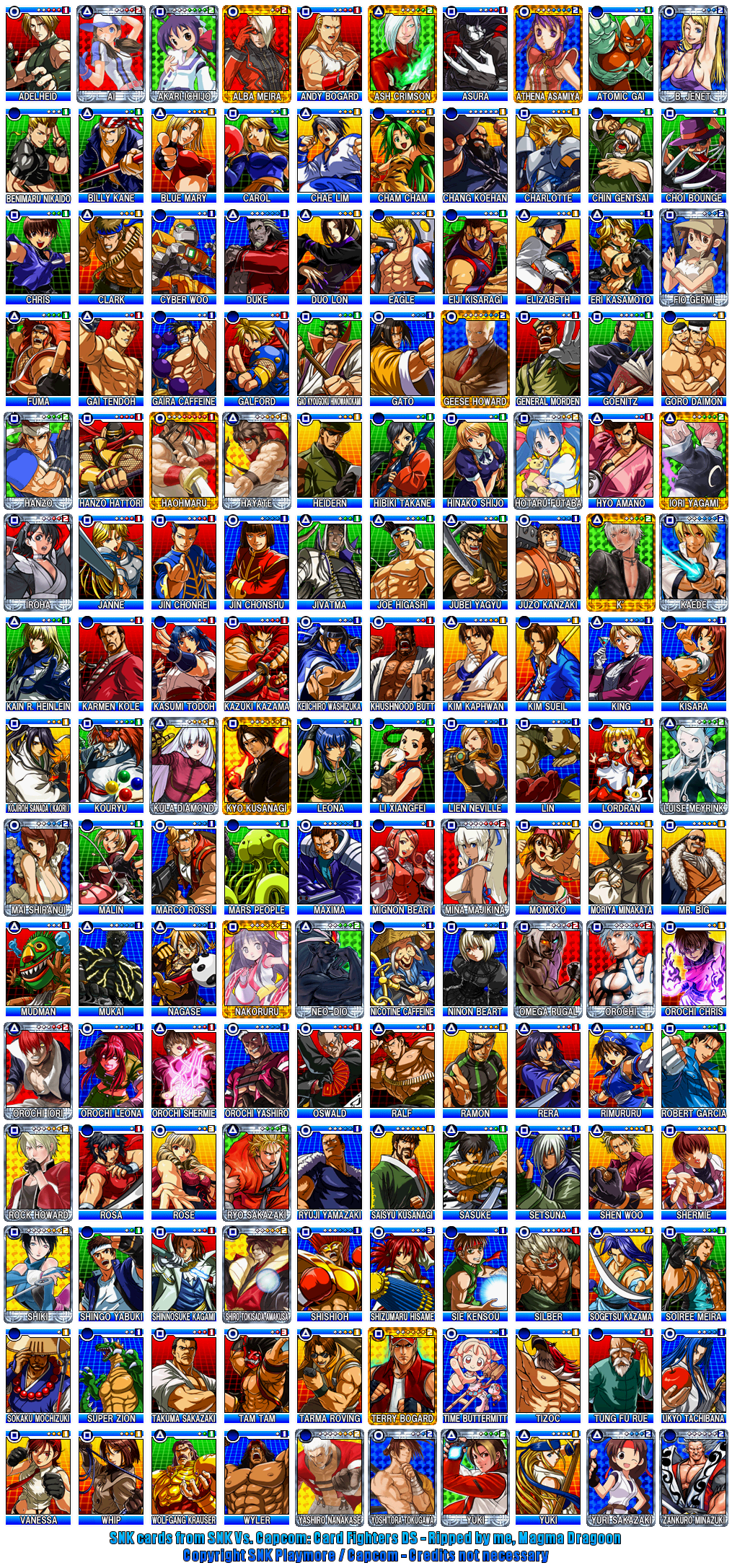 SNK Cards