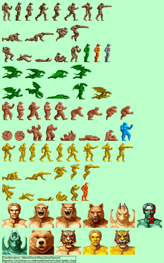 Genesis 32x Scd Altered Beast Transformations