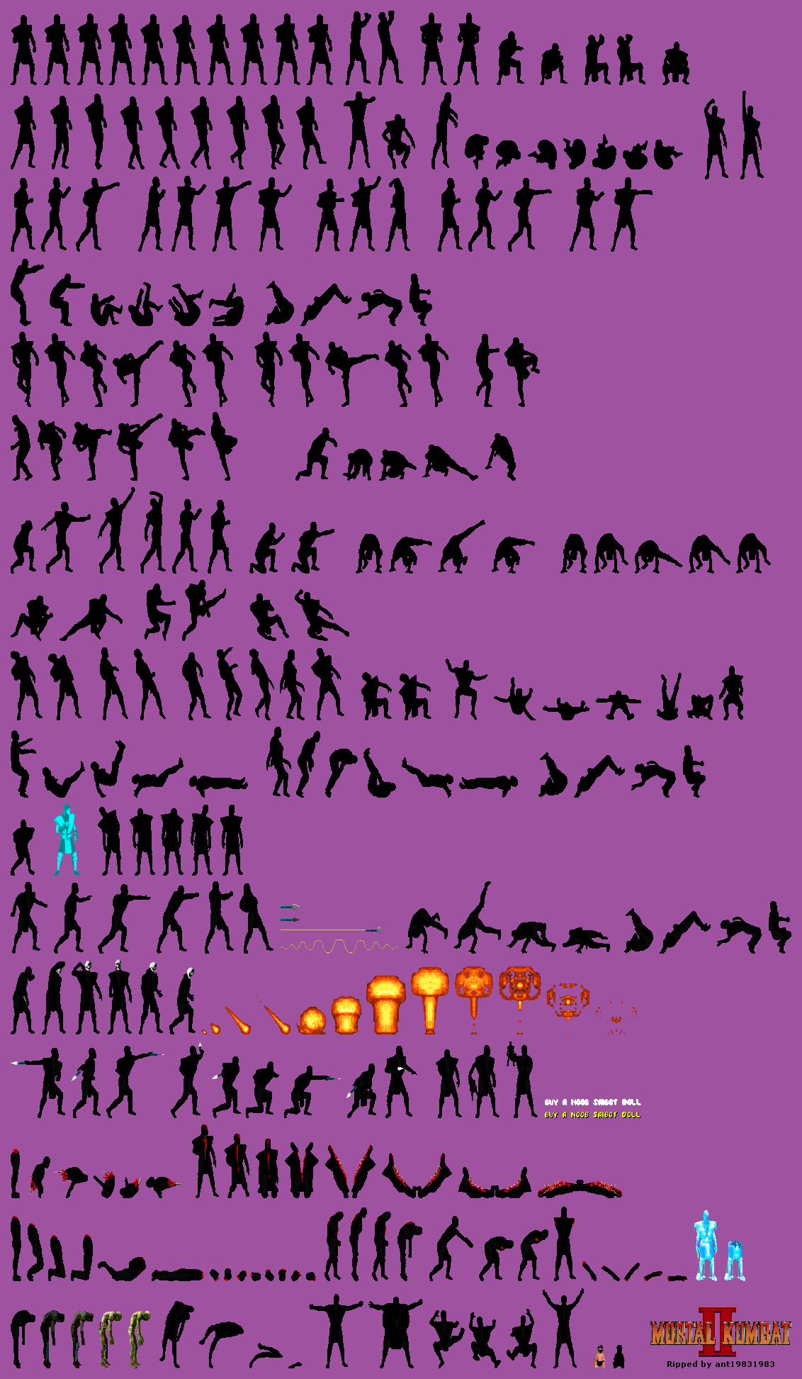 The Spriters Resource Full Sheet View Mortal Kombat 2