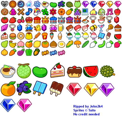 wii bubble bobble plus food the spriters resource