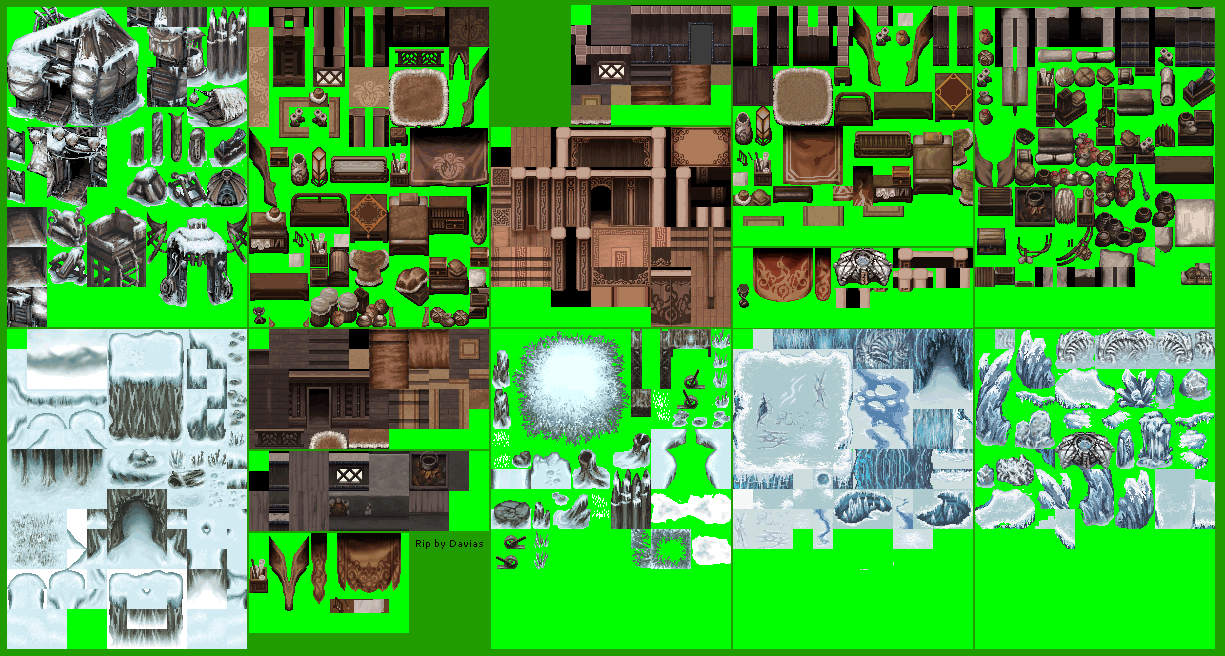 Mobile - The Legend of Monster Hunter 4 - Tilesets - The Spriters Resource