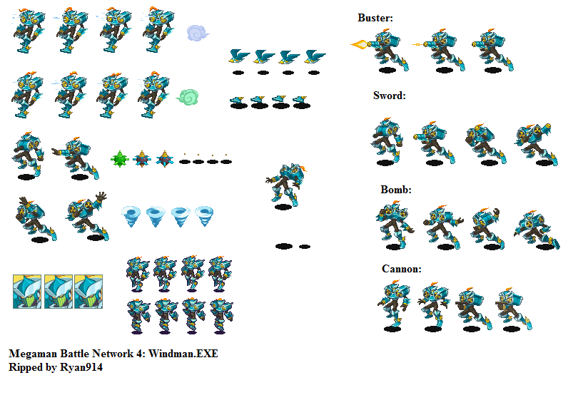 The Spriters Resource - Full Sheet View - Mega Man Battle Network 4
