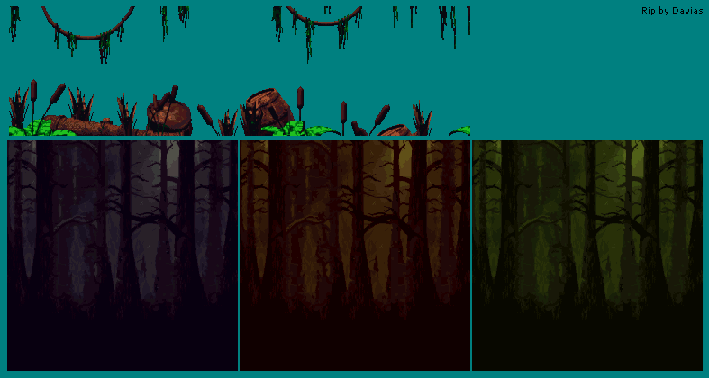 Swamp Backgrounds & Foregrounds