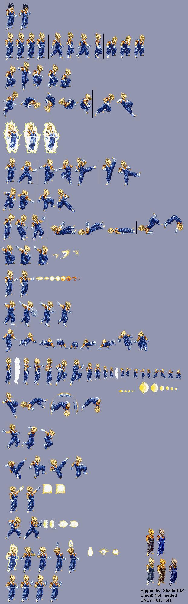 SNES - Drago... Dragon Ball Z Hyper Dimension Sprites