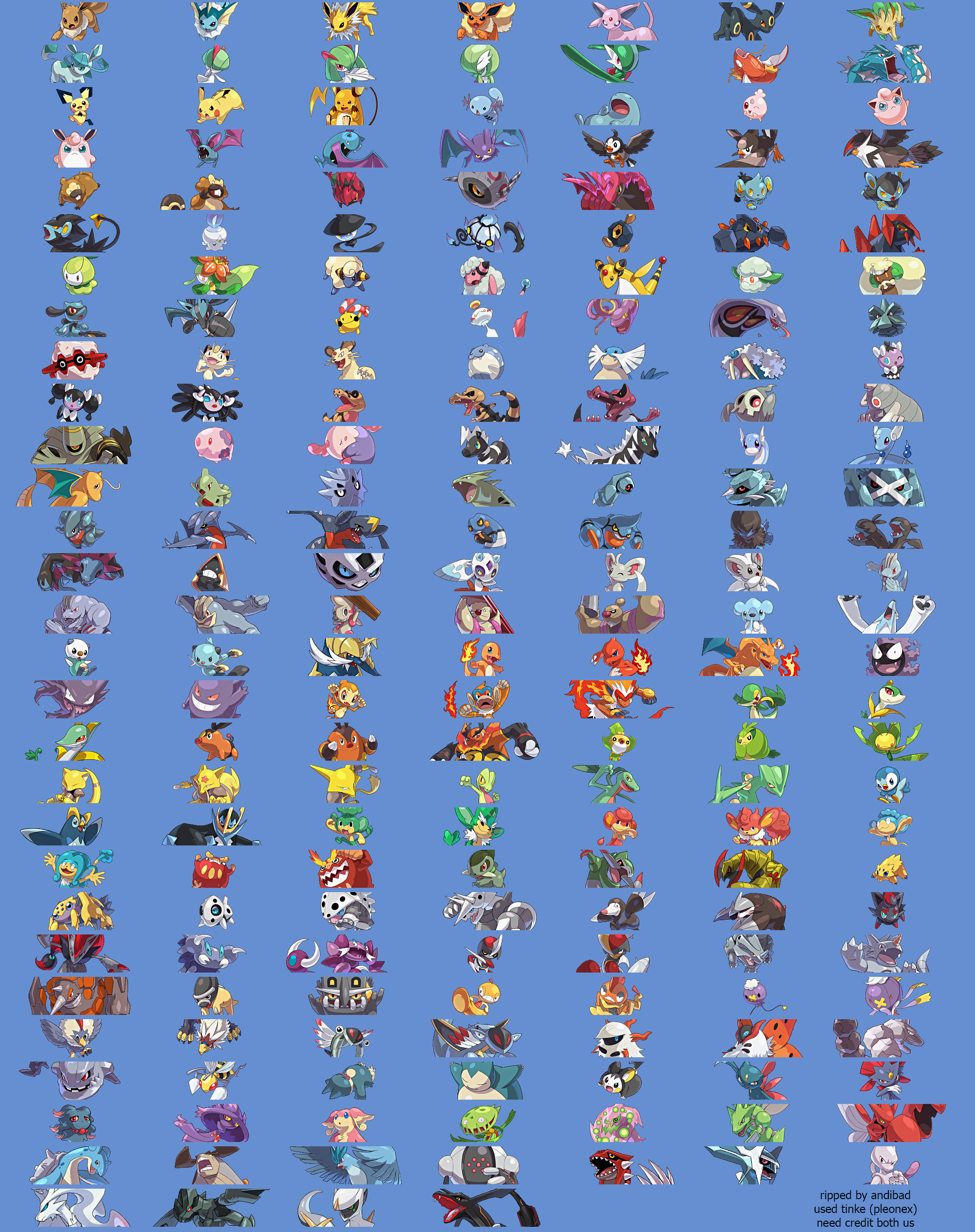 The Spriters Resource - Full Sheet View - Pokémon Conquest ...