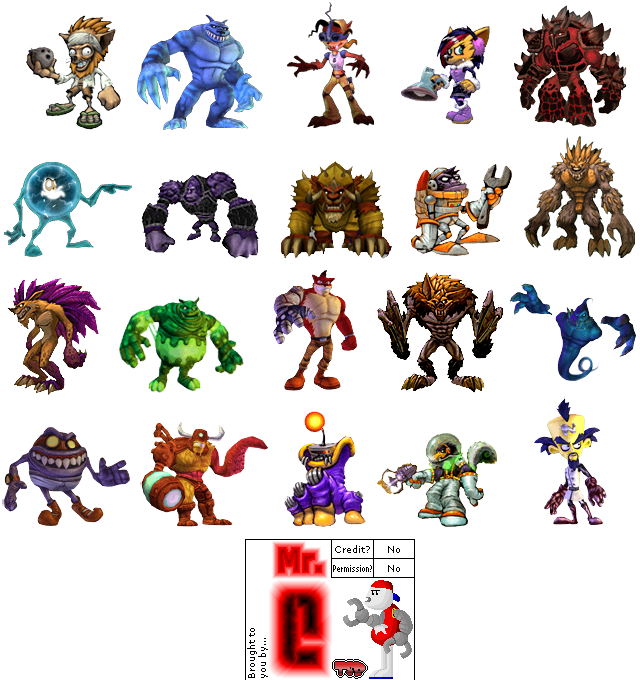 Wii Crash Mind Over Mutant Enemy Gallery The Spriters Resource