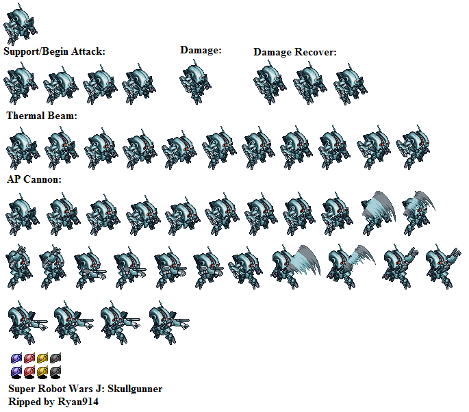 Game Boy Advance Super Robot Wars J Skullgunner The Spriters Resource