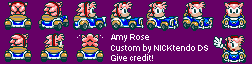 Amy Rose (Classic) (Sonic Drift) (Super Mario Kart Style)