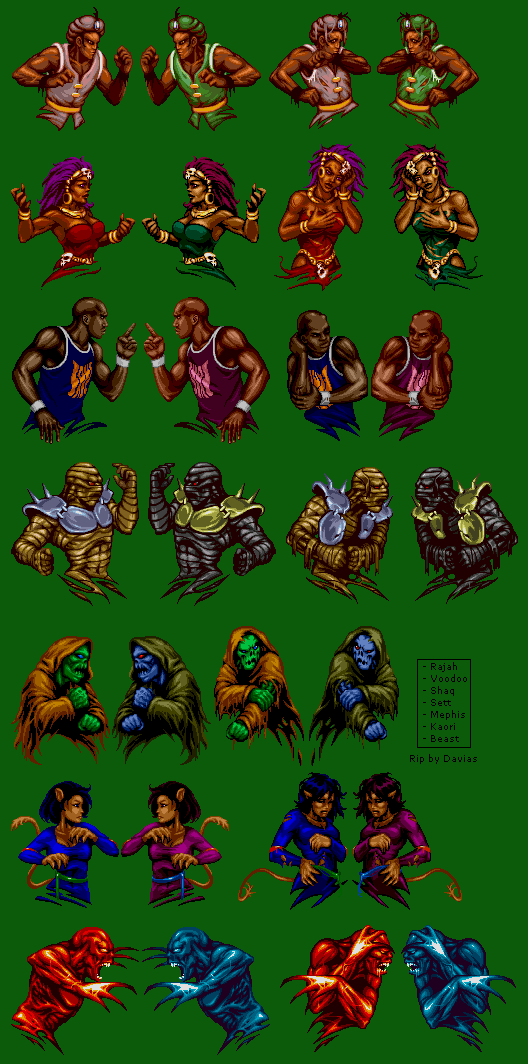 Snes Shaq Fu Portraits The Spriters Resource
