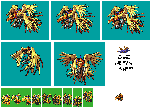 DS - Digimon World DS - Phoenixmon - The Spriters Resource
