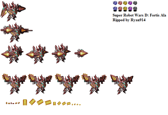 The Spriters Resource Full Sheet View Super Robot Wars D Fortis Ala