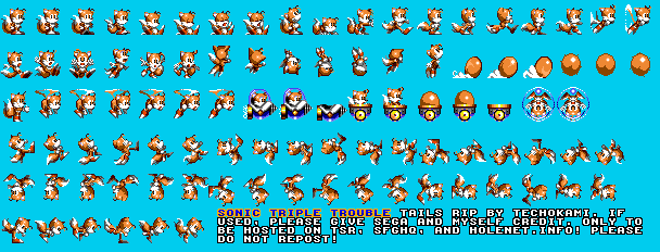 Game Gear Sonic Triple Trouble Tails The Spriters