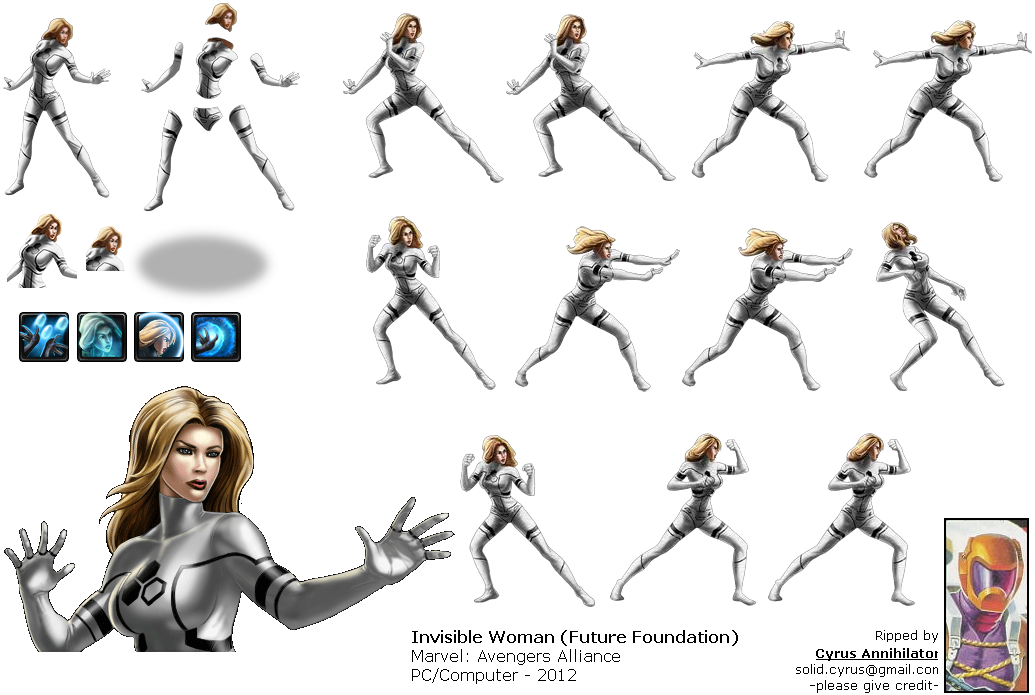 ... Pc / computer - marvel: avengers alliance - invisible woman X 23 Marvel Avengers Alliance