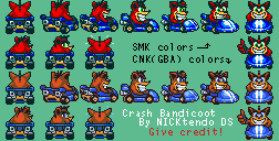 Crash Bandicoot (Super Mario Kart-Style)