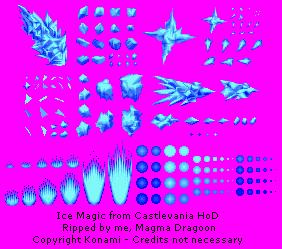 Game Boy Advance Castlevania Harmony Of Dissonance Ice Magic The Spriters Resource