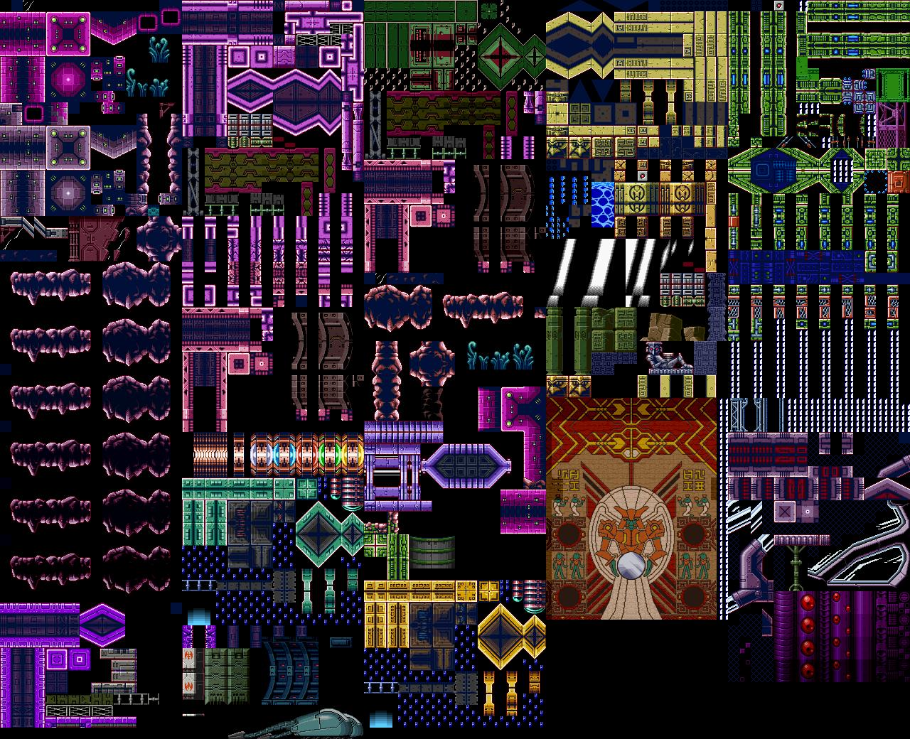 Game Boy Advance Metroid Zero Mission Chozodia Tiles