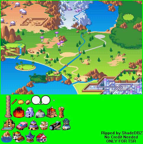 Game boy advance dragon ball advanced adventure world map the world map gumiabroncs Gallery
