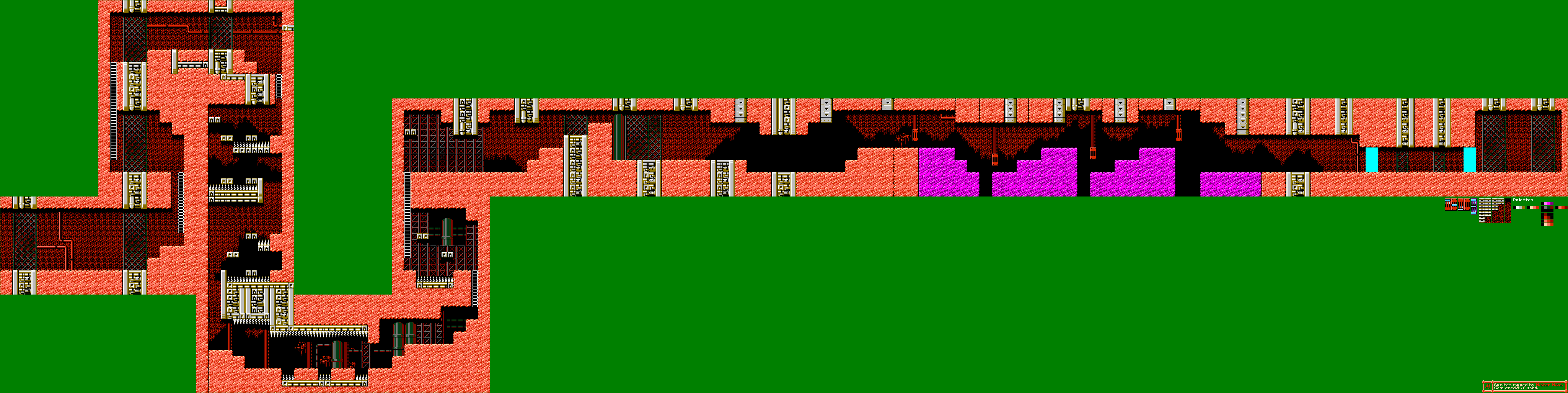 The spriters resource full sheet view mega man 4 drill man stage