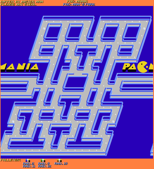 Nes Pac Mania Bootleg Pac Man S Park The Spriters