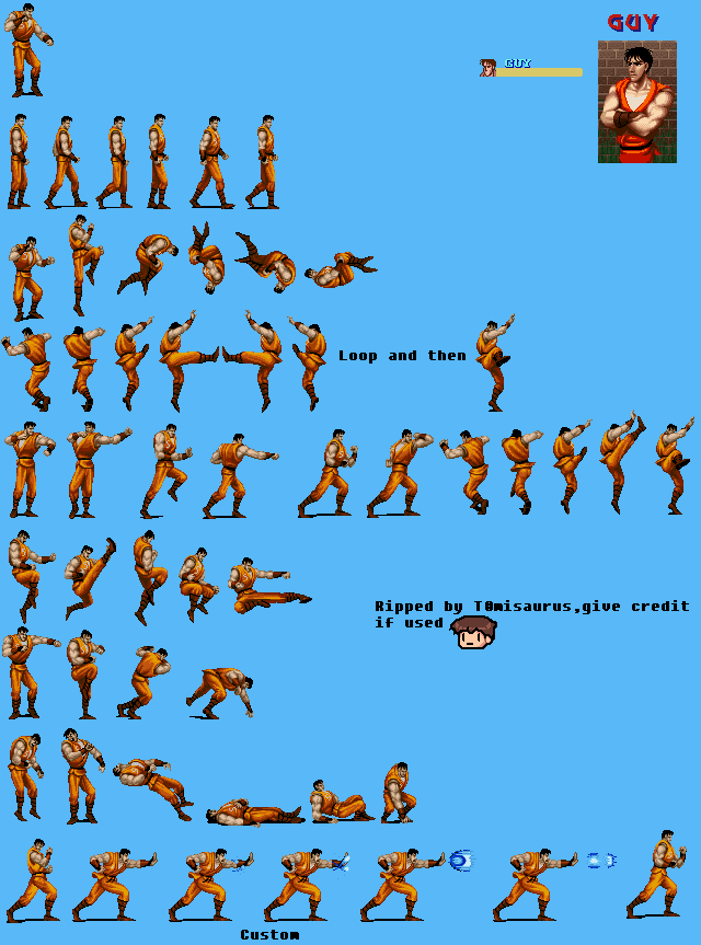 Snes Final Fight Guy Guy The Spriters Resource
