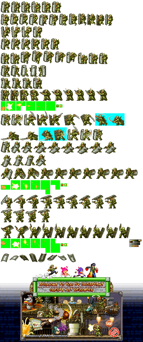 Ds Dsi Metal Slug 7 Metal Slug Xx Rebel Soldier