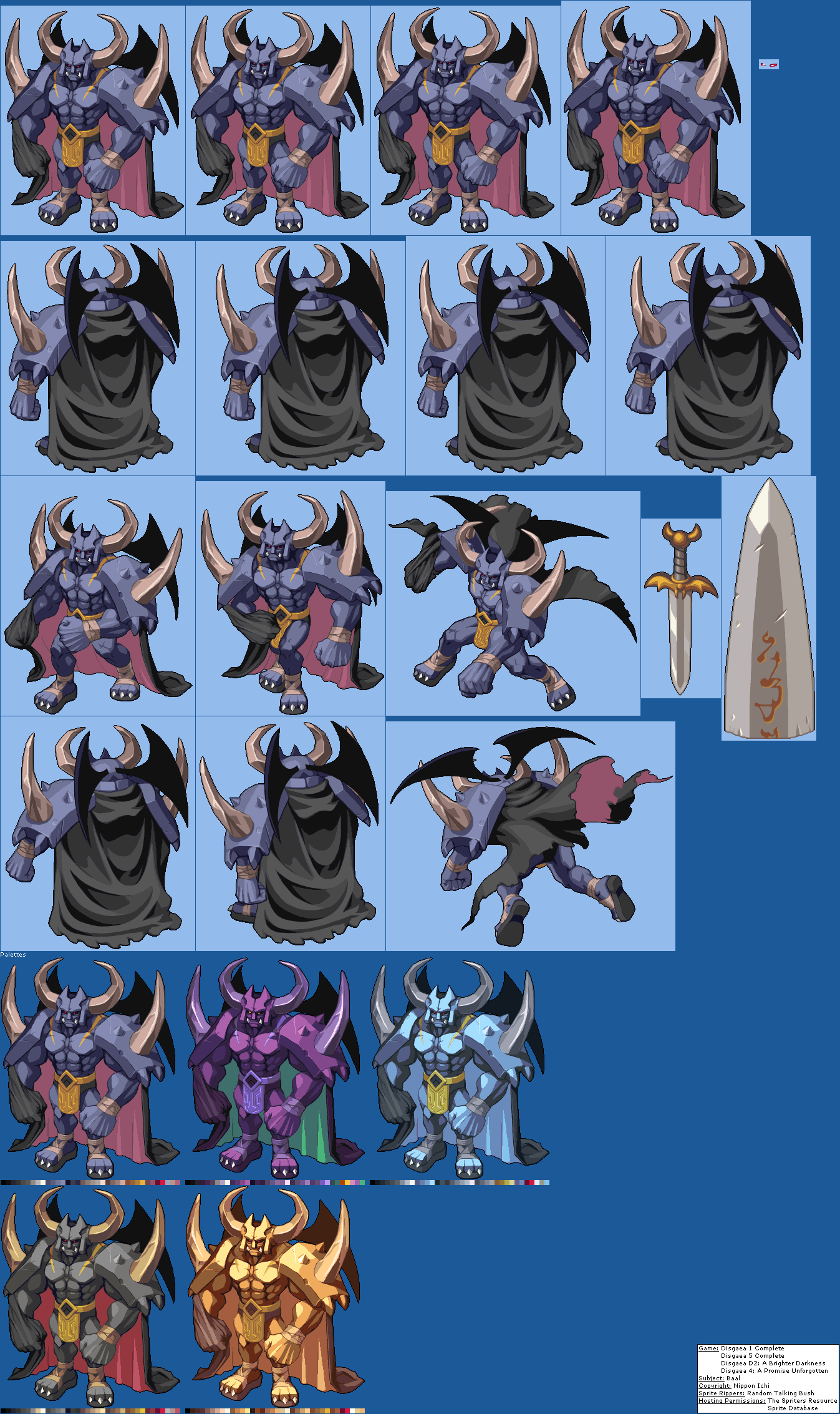The Spriters Resource - Full Sheet View - Disgaea Dimension