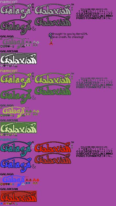 game boy gbc galaga galaxian general sprites the
