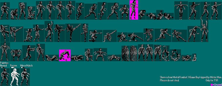 The Spriters Resource Full Sheet View Mortal Kombat 3 Sheeva