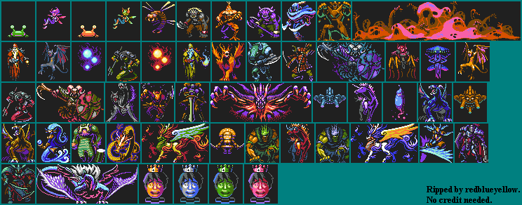 The Spriters Resource Full Sheet View Retro Game Challenge Enemies