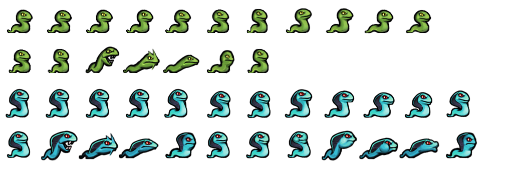 The Spriters Resource - Full Sheet View - Spelunky - Snakes
