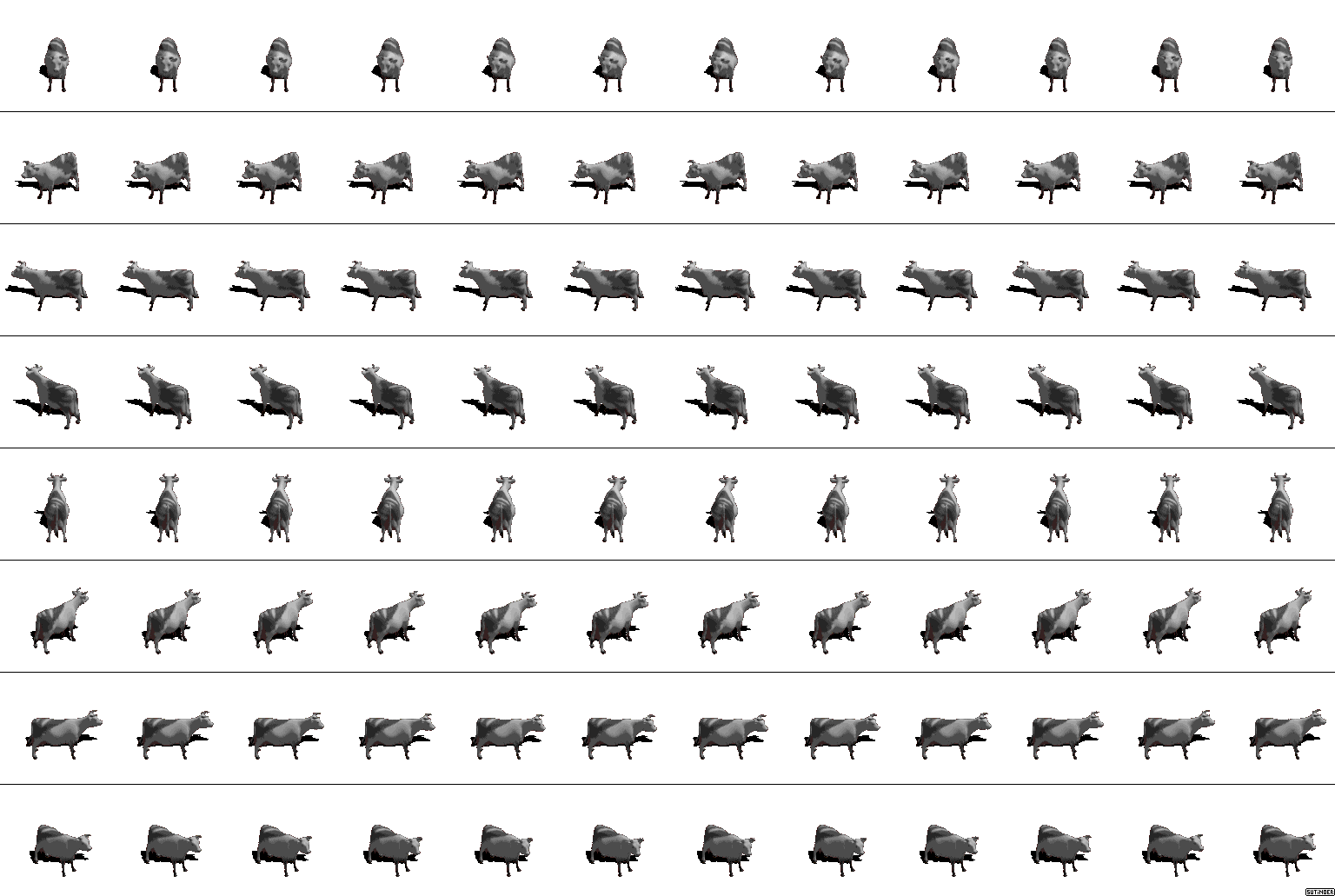 The Spriters Resource Full Sheet View Diablo Diablo Hellfire Cow