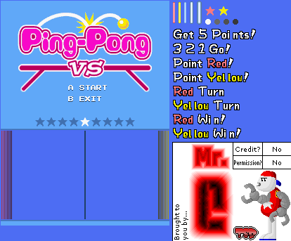 Ping-Pong VS. (Unused)