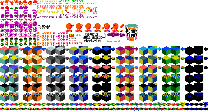 Arcade - Q*Bert - General Sprites - The Spriters Resource