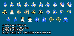 Dragon Quest (MSX2) - Characters